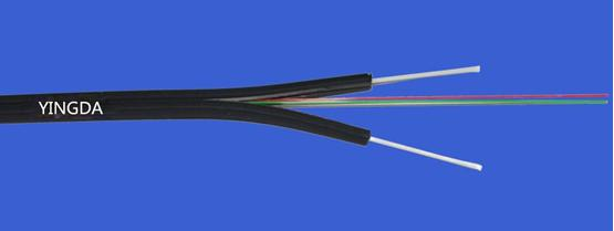 Indoor Figure-8 Bow-type FTTH  Drop Cable FRP Strength Member G657A2 LSZH