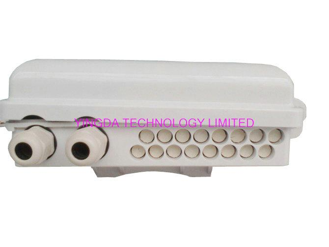 IP65 Waterproof Fiber Optic Splice Box for FTTH PLC Splitter and SC Connectors Pole Mounted