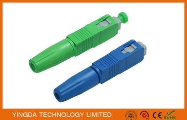 Cina Green / Blue SC UPC APC Field Installable Connector FTTH Use pabrik