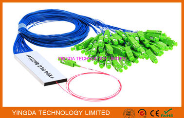 Cina 1/16 Fiber Optic PLC Splitter Ribbon Broadband FTTH Splitter Coupler 1 x 16 pabrik