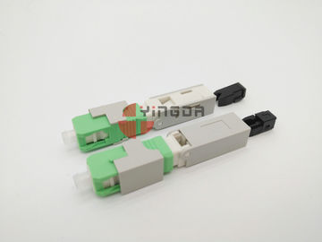 Cina SC Mechanical Fast Fiber Optic Filed Installable Connector APC Green Pre Dipoles pabrik