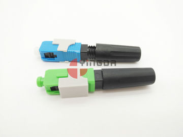 Cina Modus tunggal 9 / 125um SC Field Installable Connector Fiber Optic FAST Connector pabrik
