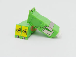 Hijau LC / APC Duplex SM Fiber Optic Adapter Dengan Shutter, No Flange