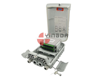 Cina 16 Port Tiang Gunung Fiber Optic Box Kabel IP66 Untuk FTTH Nap Caja Terminal Gray pabrik