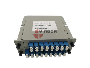 1x32 2x32 Lgx Plc Splitter Kabel Serat Optik Mode Tunggal Dengan LC SC Coupler