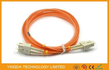 Kabel Patch Fiber Optik SC -SC Multimode 50 (125) um Duplex 2.0mm Dengan Klip Beige