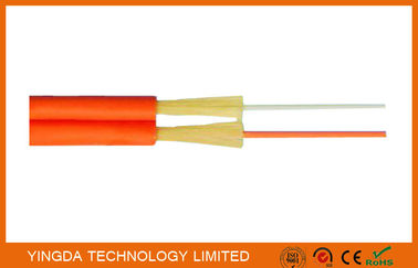 Cina Zipcord Duplex FTTH Drop Cable , Patch Cord SM / MM 1.6mm 2mm 3mm Yellow Orange pabrik