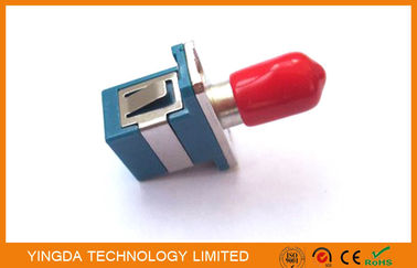 Cina Multimode Hybrid Fiber Optic Adapter SC - ST Connector With Ceramic Sleeve pabrik