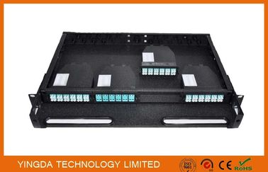 Cina 96 Cores 1U MPO Patch Panel / Enclosures 4 bays wide 24 LC ports3 MPO APC (x8) input SMF Distributor