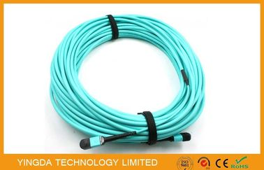 Cina 12 Serat OM3 10Gig MTP MPO Cable, Trunk Cable MPO - MPO 12 FO OM3 15 Mts Distributor