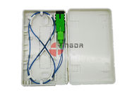 Putih Distribusi FTTH Fiber Optic Termination Box SC LC ABS Faceplate Tahan Lama